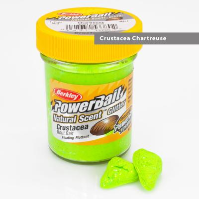 Berkley Natural Scent Trout Bait Glitter Krebs Chartreuse