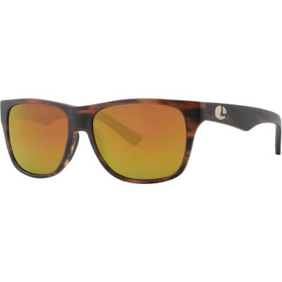 Angelsport Bekleidung Lenz Laxa Acetate Sunglass Clear Army/Silver with Brown Lens