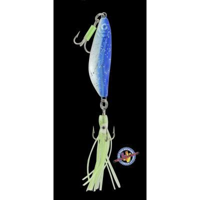 DEGA pirk with 2 triplets + UV-Octop. Blue glitter