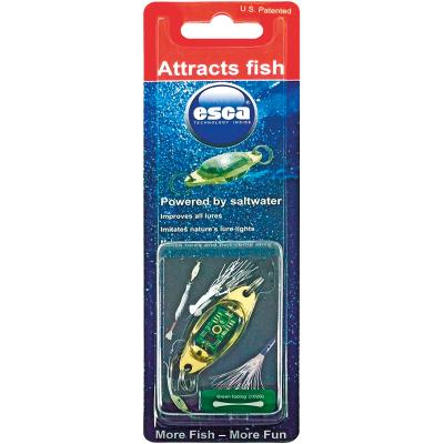 Esca MS103G green multi blink / no box & hook