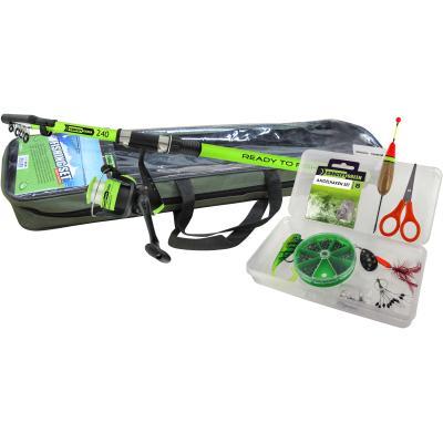 JENZI Tele Rod Combo Green Concept Ready to fish including rod bag