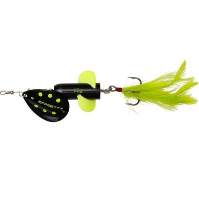 EFFZETT Rattlin' Spinner #6 13cm 25G Black Demon