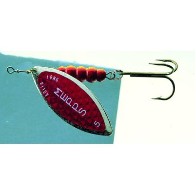Mepps Aglia Longue Redbo argent / rouge taille 4