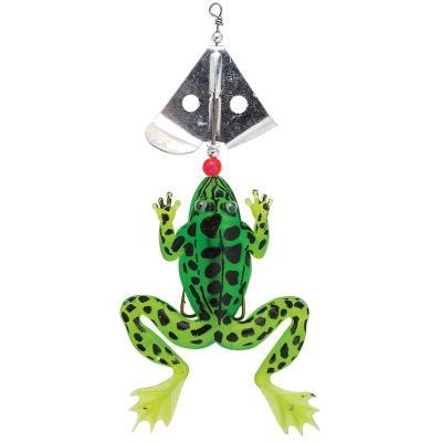 FLADEN grenouille avec essoreuse feuille 13cm 15g vert / noir