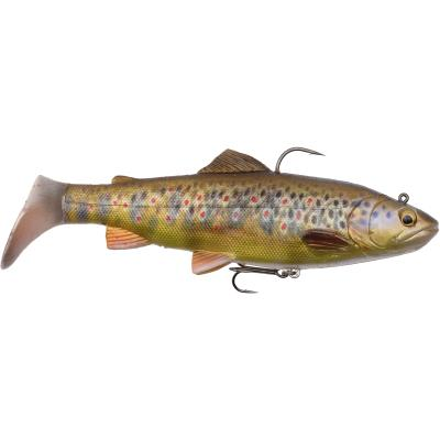 Savage Gear 4D Trout Rattle Shad 12.5cm 35g 03-Dark Brown Trout
