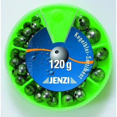 JENZI perforated lead assortment with different assortments Contents: 120 g.