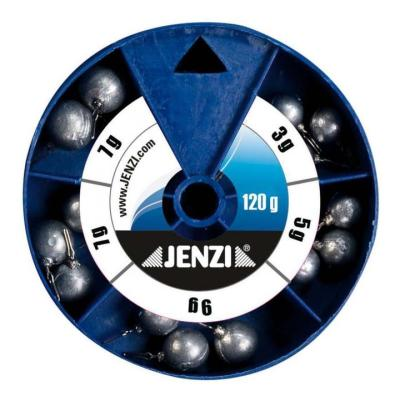 JENZI Drop-Shot Bleisortiment in runden Dosen 120 g Round