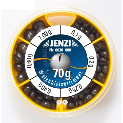 La grenaille de plomb JENZI peut contenir 70g,