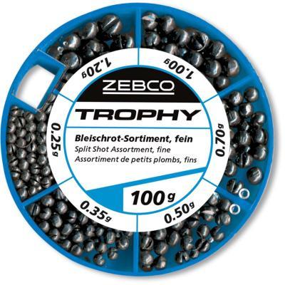 Zebco lead shot assortment 100g, fine