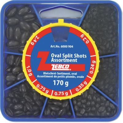Zebco lead shot assortment 170g, oval