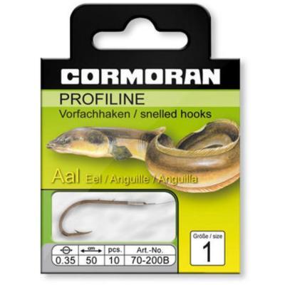 Cormoran PROFILINE eel hooks black oxide finish, size 2 0,35mm