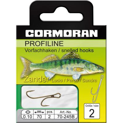 Cormoran PROFILINE pikeperch Ryder hook, brown. Size 6 0,08mm