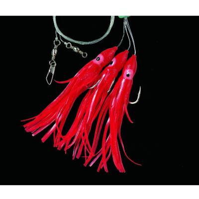 DEGA Cod leader (Octopus) 3 hooks B-Japan-Red