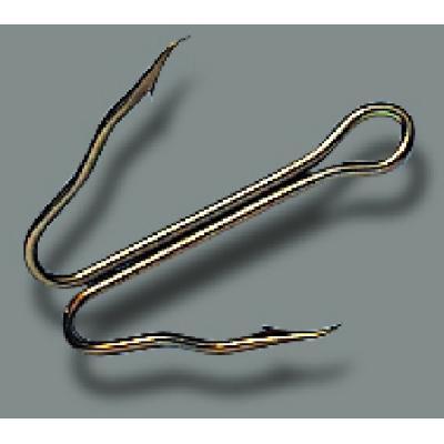 Crochet à dégagement rapide JENZI, taille 6, bruni, longueur moyenne, spécial,