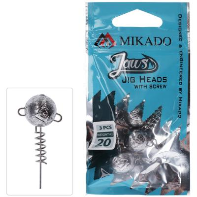 Mikado lead head - jaws with screw 10G - 3 pcs.
