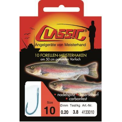 Magic Trout 8 Trout Hook Paste rot /Ø0,18mm 200cm 7St/ück