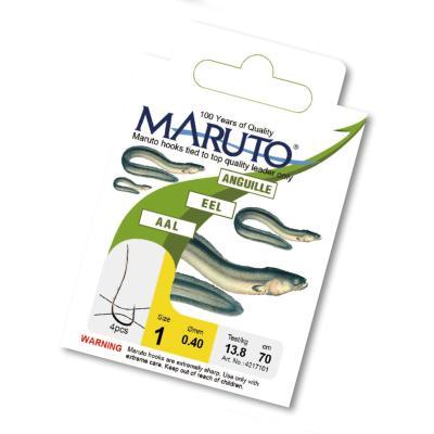 Maruto Eel / Worm Hooks silver. Gr.1