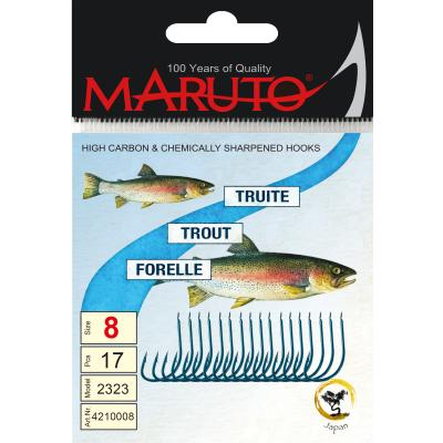 Maruto Maruto Trout Hook blue size 12 SB18