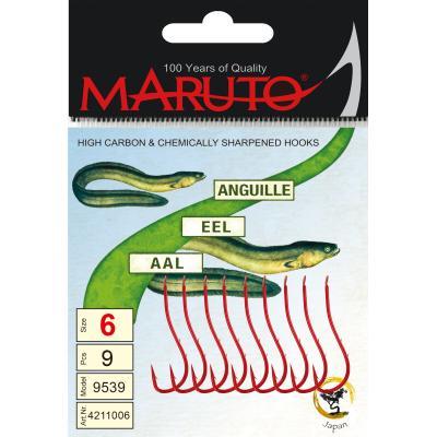 Maruto Maruto worm / eel hook red size 2 SB6