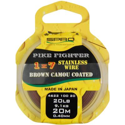 Spro Predator 1X7 Brown Coated Wire 20M 40Lb