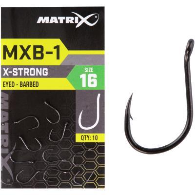 Matrix MXB-1 Size 16 Barbed Eyed Black Nickel 10pcs