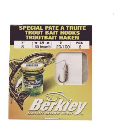 Berkley Trout Bait Hooks - 0.20 Size 8