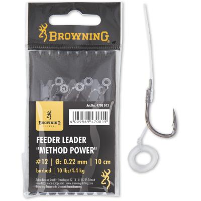 Browning #10 Feeder Leader Method Power Pellet Band bronze 0,25mm