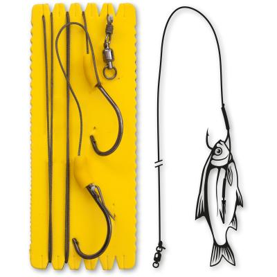L Black Cat #6//0,#3//0 Bouy and Boat Ghost Double Hook Rig L 100kg 1St/ück 1,40m