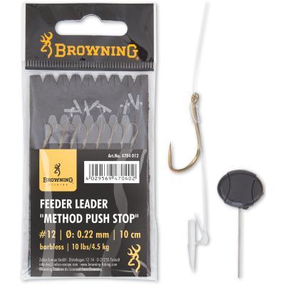 Browning 14 Feeder Method Vorfachhaken mit Pellet-Band Bronze 6lbs,2,8kg /Ø0,18mm 10cm 8St/ück