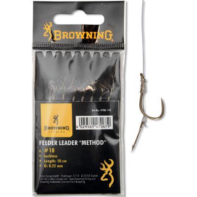 16 crochets de tête de méthode d'alimentation avec aiguille à bouillette 2,8 kg 0,18 mm 10 cm 8 pièces