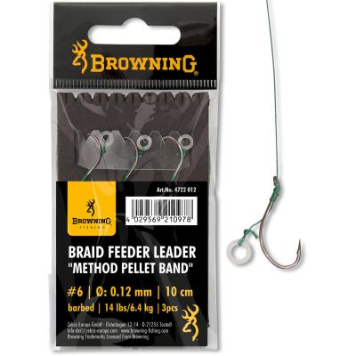 8 Braid Feeder Leader Method Pellet Band bronze 6,4kg 0,12mm 10cm 3Stück