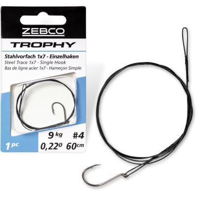 Zebco Trophy steel leader 1x7 - single hook L: 50cm 15kg