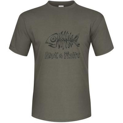 T-Shirt Mikado - Bite & Fight - Taille M - Kaki