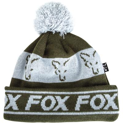 FOX green / silver lined bobble