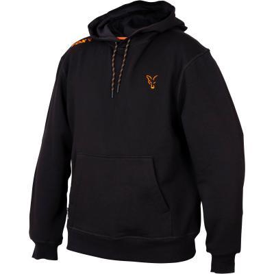 Sweat à capuche Fox Collection Black Orange - L