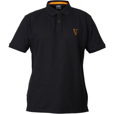 Fox collection Black Orange polo shirt - L