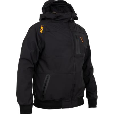 Fox collection Black Orange Shell hoodie - L