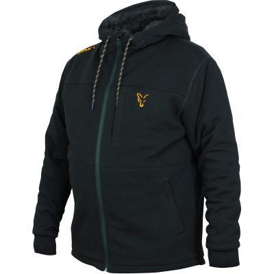 Fox collection Black Orange Sherpa hoodie - L