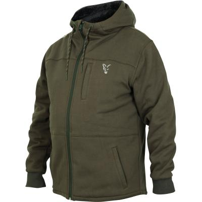 Fox collection Green Silver Sherpa hoodie - M