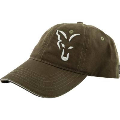Fox green silver baseball cap