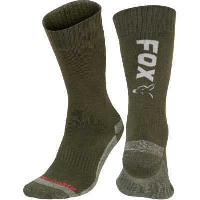 Fox Green / Silver Thermolite long sock 10 - 13 Eu 44-47