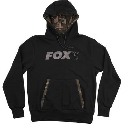Sweat à capuche noir / camouflage Fox - XL