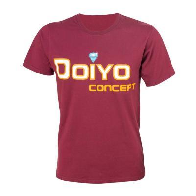 Doiyo T-Shirt Logo bordeaux Gr. S.