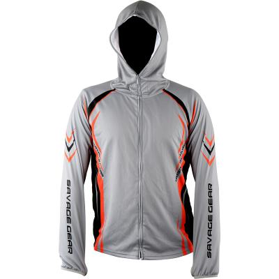 Savage Gear SunProtec Zip Hoodie Grey S