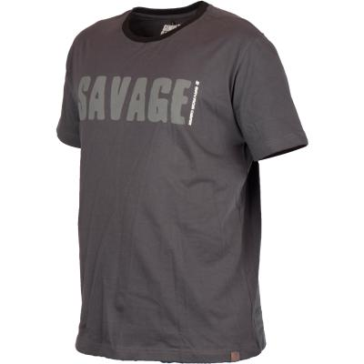 Savage Gear Simply Savage Tee Light Grey Melangé XXL