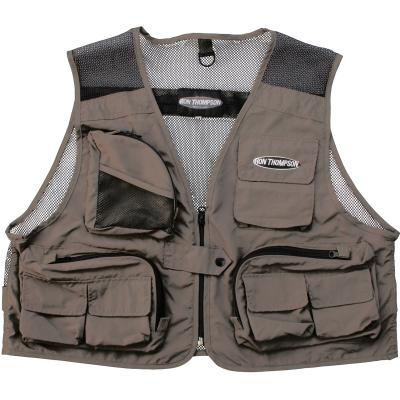 Ron Thompson Mesh Lite Fly Vest M Stone