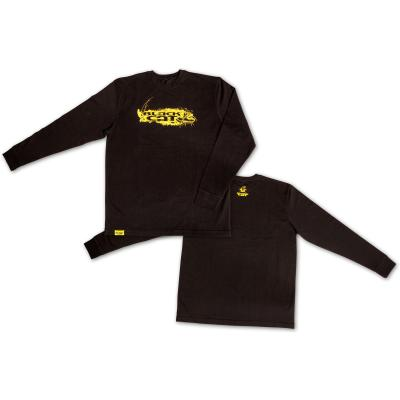 Black Cat L Longsleeve Shirt schwarz