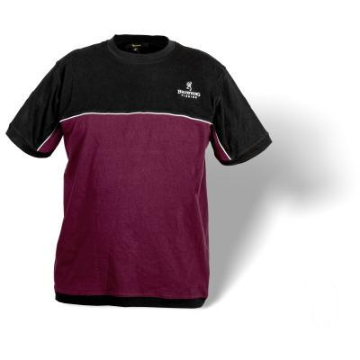T-shirt Browning XL noir / bordeaux
