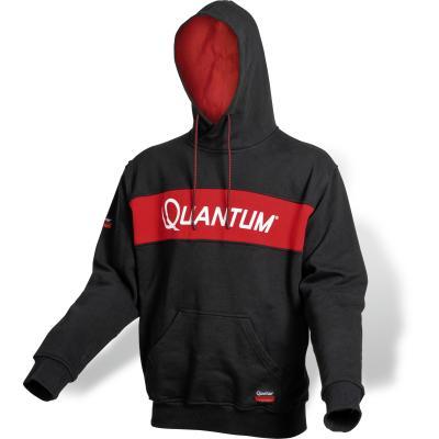 Sweat à capuche Quantum L Tournament noir / rouge