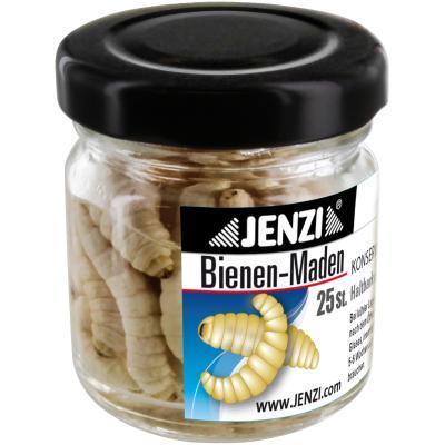 Les asticots des abeilles JENZI sont préservés. Verre blanc